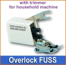 TEXI 0025 Overlock FUSS with trimmer for household machine
