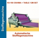 Automatische Stofflegemaschine K9-190 OSHIMA + TABLE 12M SET