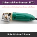 Universal-Rundmesser WD-2 Schnitthöhe 25 mm Round Knife Cutting Machine